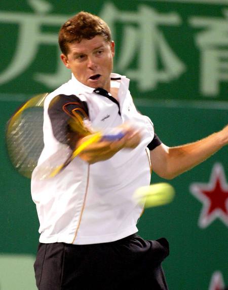 图文-诺瓦克跻身上海网球公开赛四强诺瓦克正手回球