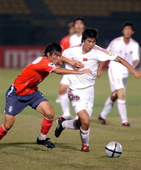 图文-[亚青赛]中国0-2韩国董方卓攻势愕然受阻