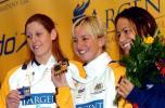 图文-世界短池游泳锦标赛赛况蛙泳前3名展示奖牌
