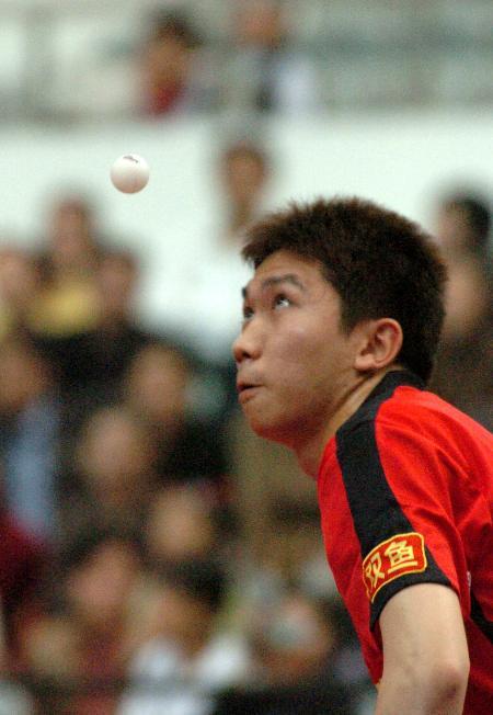 图文-乒乓球中超联赛最新赛况柳承敏不敌单明杰