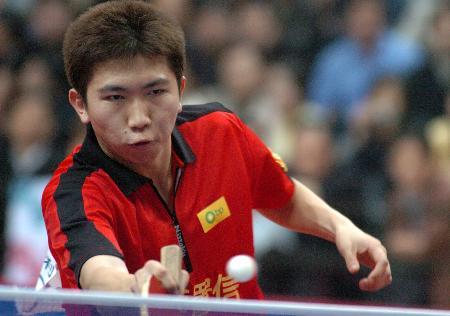 图文-乒乓球中超联赛赛况柳承敏被单明杰拿下