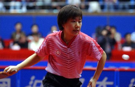 图文-世界杯乒乓球赛女单1/4决赛柳絮飞不敌帖娅娜