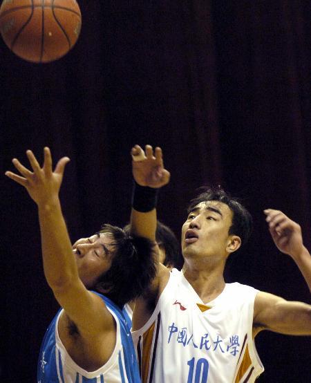 图文-大超联赛辽大负于人大合眼挥手任皮球飞去