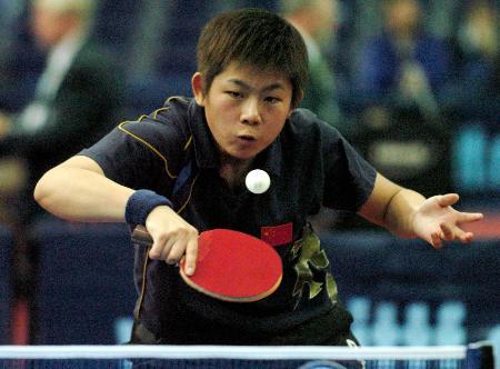 德国乒乓球公开赛曹臻战胜托特晋级八强