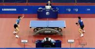 图文-德国乒乓球赛波尔夺冠男单决赛全景