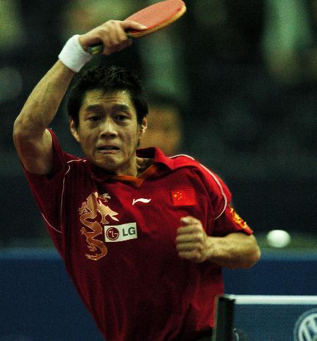 图文-德国乒乓球公开赛邱贻可半决赛不敌波尔
