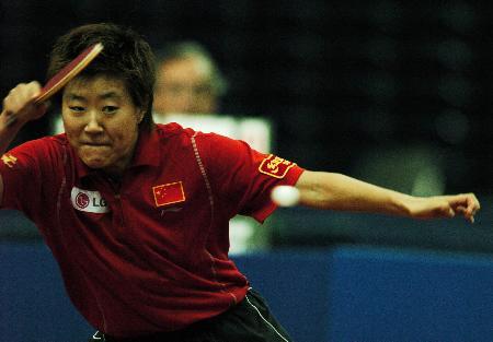 图文-德国乒乓球公开赛郭焱半决赛击败李晓霞
