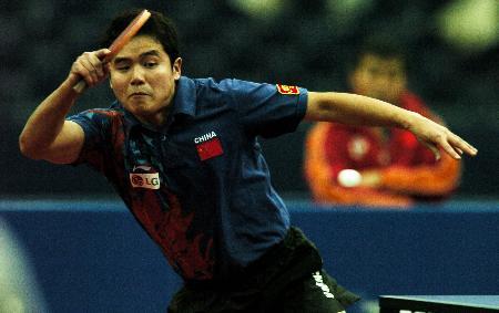 图文-德国乒乓球公开赛刘国正不敌波尔屈居亚军
