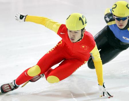 短道速滑男队遭遇 韩流 隋宝库发挥欠佳