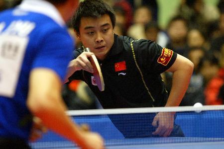 ...球.当日,在韩国与世界明星乒乓球赛上,王皓以3比1的比分战胜