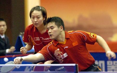 图文-世乒赛选拔赛桂林站白杨/刘国正挺进八强