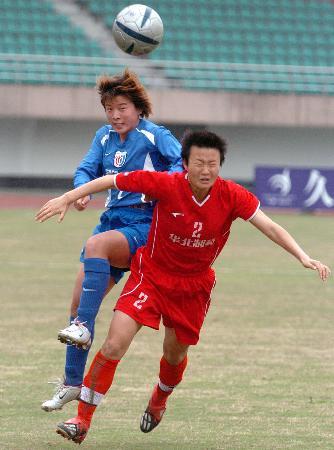 全运女足预赛上海2比1河北刘亚莉遭到暗算