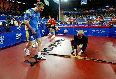 图文-世乒赛男双四分之一决赛瑞典队采取缓兵之计