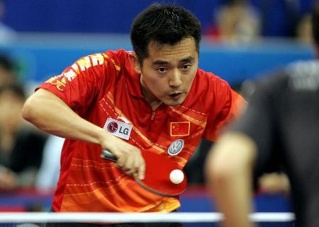 图文-世乒赛男子单打第三轮孔令辉依然灵气十足