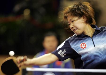 图文-世乒赛女子单打第三轮柳絮飞迅猛无奈遭淘汰