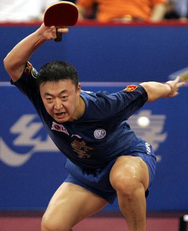 图文-世乒赛男子单打1/4决赛马琳准备加速起飞