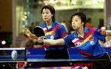 图文-世乒赛女子双打决赛张怡宁单手有自信