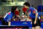 图文-世乒赛女子双打决赛她们又在咬耳朵