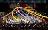 图文-世乒赛落下帷幕闭幕式上精彩的文艺表演