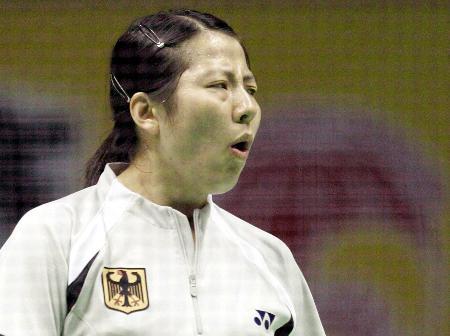 图文-苏迪曼杯混合团体赛德国徐怀雯击败李理