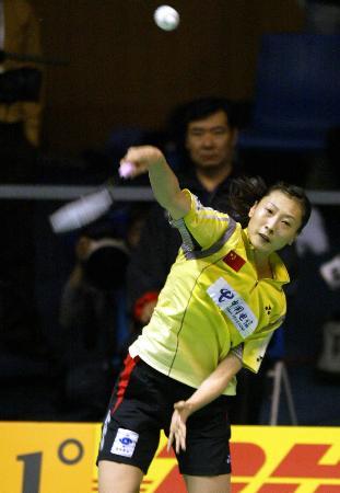图文-苏迪曼杯中国首战瑞典中国选手张宁建功