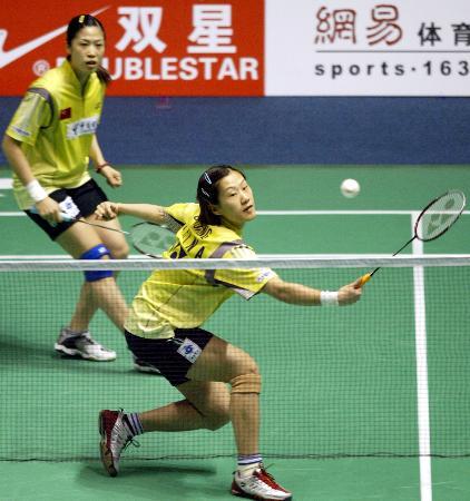 图文-苏迪曼杯中国首战瑞典黄穗回球轻舞飞扬