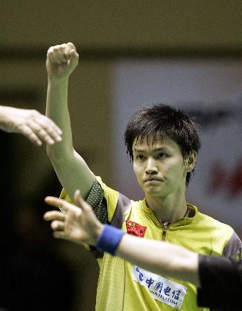 图文-苏迪曼杯中国5-0香港鲍春来赛中精彩瞬间
