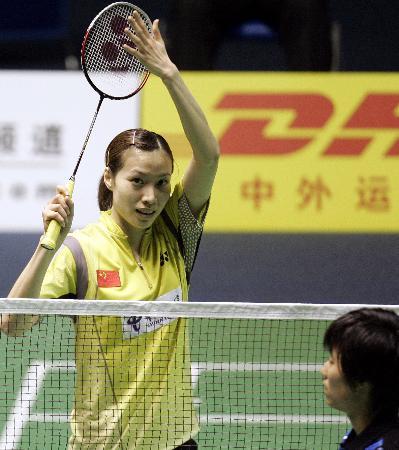 图文-苏迪曼杯中国5-0香港谢杏芳战胜叶佩延