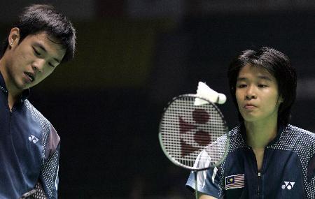 图文-苏迪曼杯羽毛球赛第三天马来西亚混双搭挡
