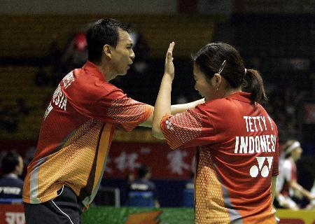 图文-苏迪曼杯小组赛落幕印尼林培雷混双落败