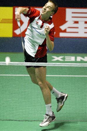 图文-苏杯半决赛印尼胜丹麦盖德劈杀擦网而过