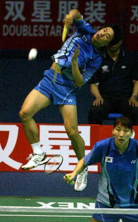 图文-苏杯半决赛中国完胜韩国韩国李在珍劈杀