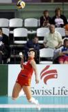 图文-瑞士女排精英赛中国负意大利杨昊跳发英姿
