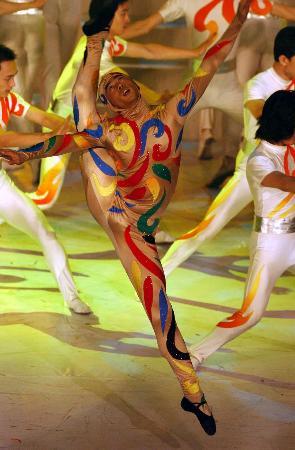图文-北京2008奥运主题口号揭晓歌舞《吉祥诵》