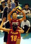 图文-大奖赛中国女排轻取巴西队冯坤二传信心十足