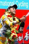 图文-环湖赛第七赛段赛况埃斯卡尼喷洒香槟