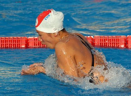 图文-大运会齐晖200米混合泳夺金蛙泳英姿