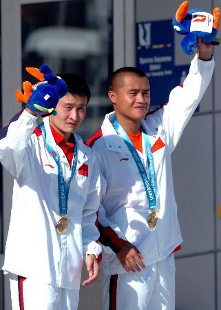 图文-世界大运会彭勃/王克楠双人三米板称王