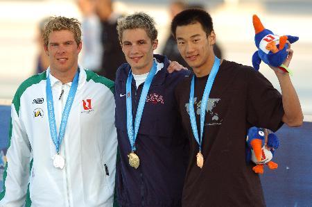 图文-世界大运会游泳小将赵涛200米混合泳第三