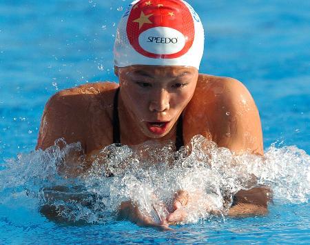 图文-世界大运会齐晖200米蛙泳仅获第三水中野兽