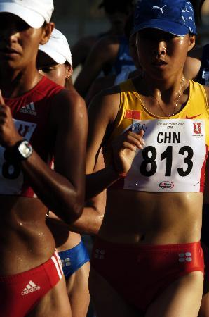 图文-女子20公里竞走中国夺冠蒋秋艳志在必得
