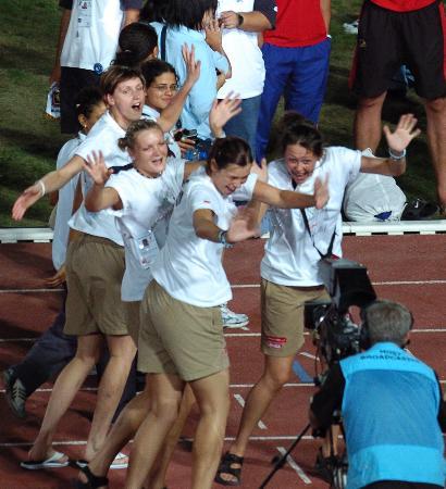 图文-第二十三届大运会隆重闭幕兴高采烈运动员