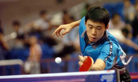 图文-中国乒乓球大奖赛赛况韩国李廷佑进入决赛