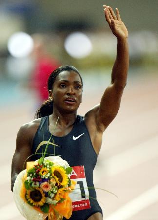 图文-上海国际田径黄金大奖赛达琳女子400米折桂