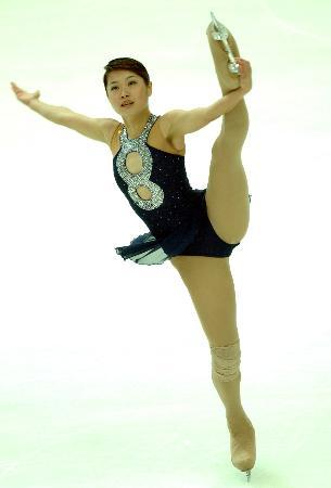 图文-十运会花样滑冰尘埃落定方丹在比赛中