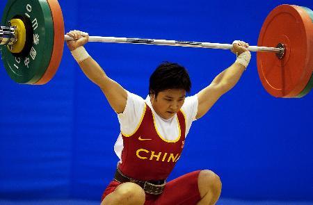图文-十运女举李萍超53公斤级世界纪录蓄势待发
