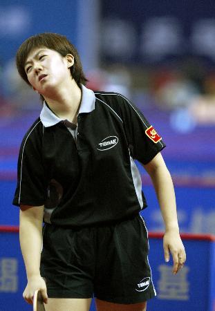 图文-十运会乒乓球团体赛开赛牛剑锋充满无奈