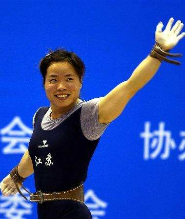 图文-十运女举58公斤级狂超世界纪录陈艳青惟我独尊