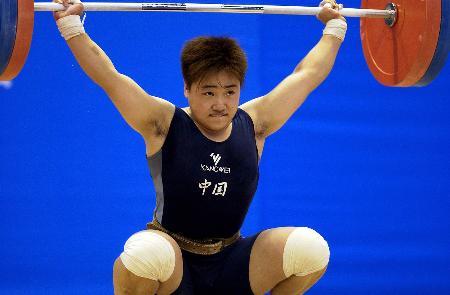 亚军-举重女子举重69公斤级天津刘海霞获足球图片儿童画图文图片