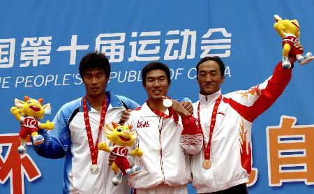 图文-自行车男子4公里个人决赛温海瑞摘得金牌